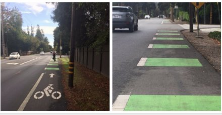 Green Bike Lanes already in Atherton