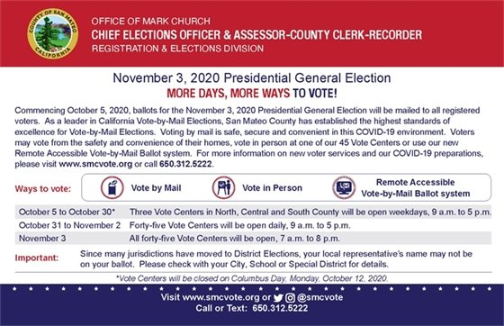 More Days, More Ways to Vote!