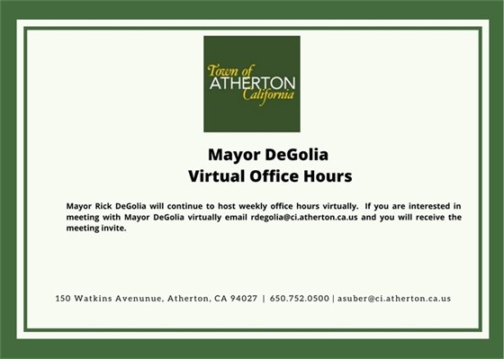 Mayor DeGolia Virtual Office Hours