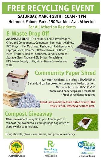 Paper Shred, E-Waste, Compost Event