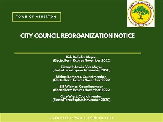 City Council Reorganization Notice