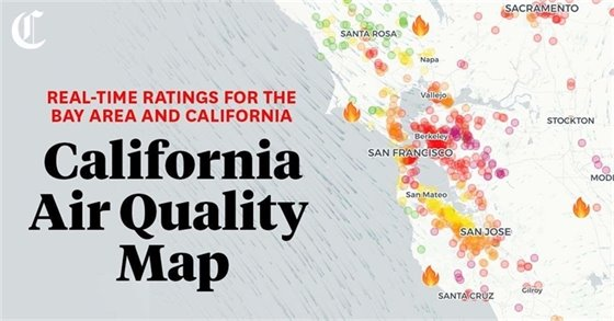 Bay Area Air Quality Index Map