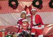 Santa with Santa Family