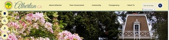 Town of Atherton Website Header