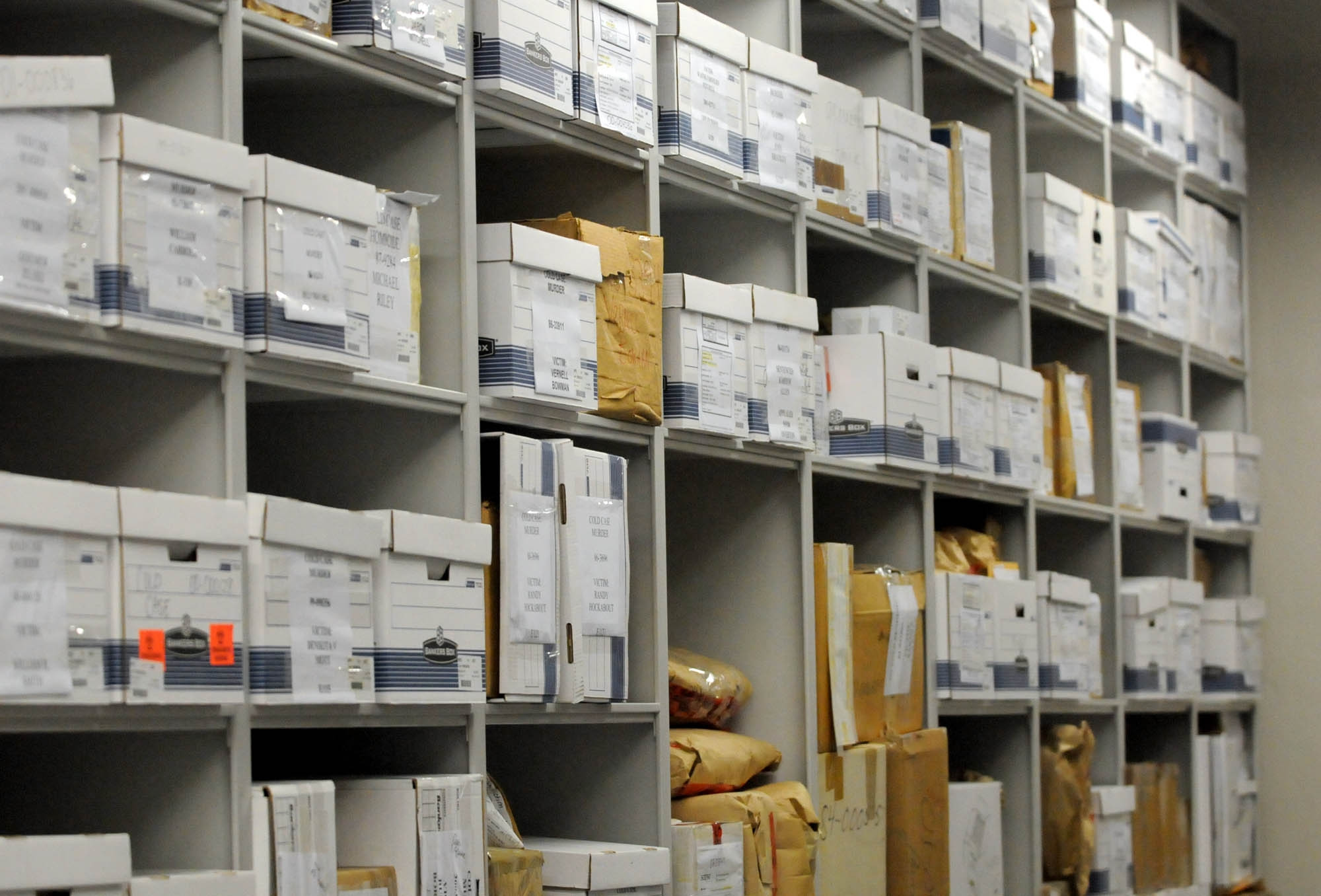 property and evidence boxes and files