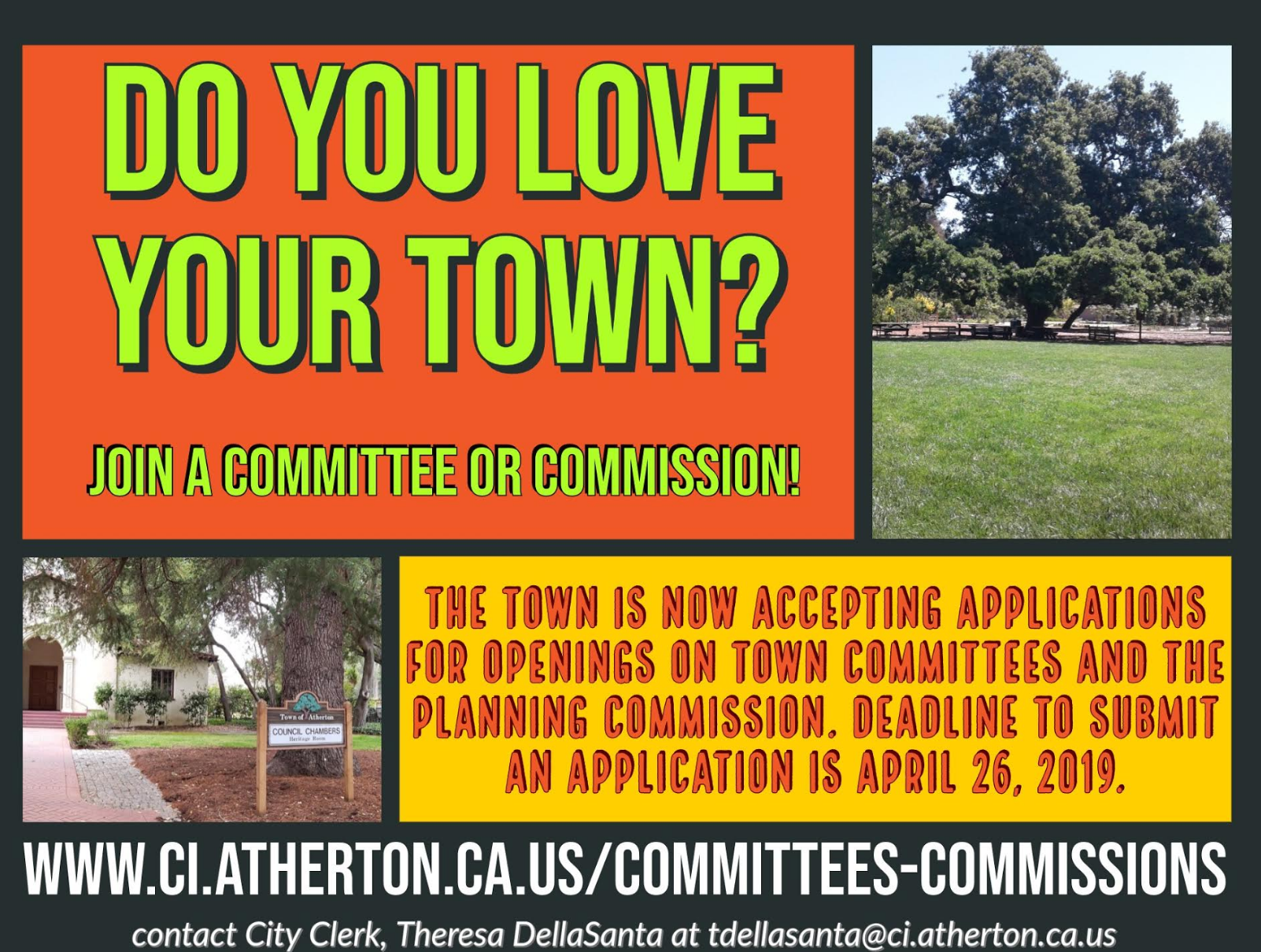 Town Committee and Commission Recruitment Flyer 2019