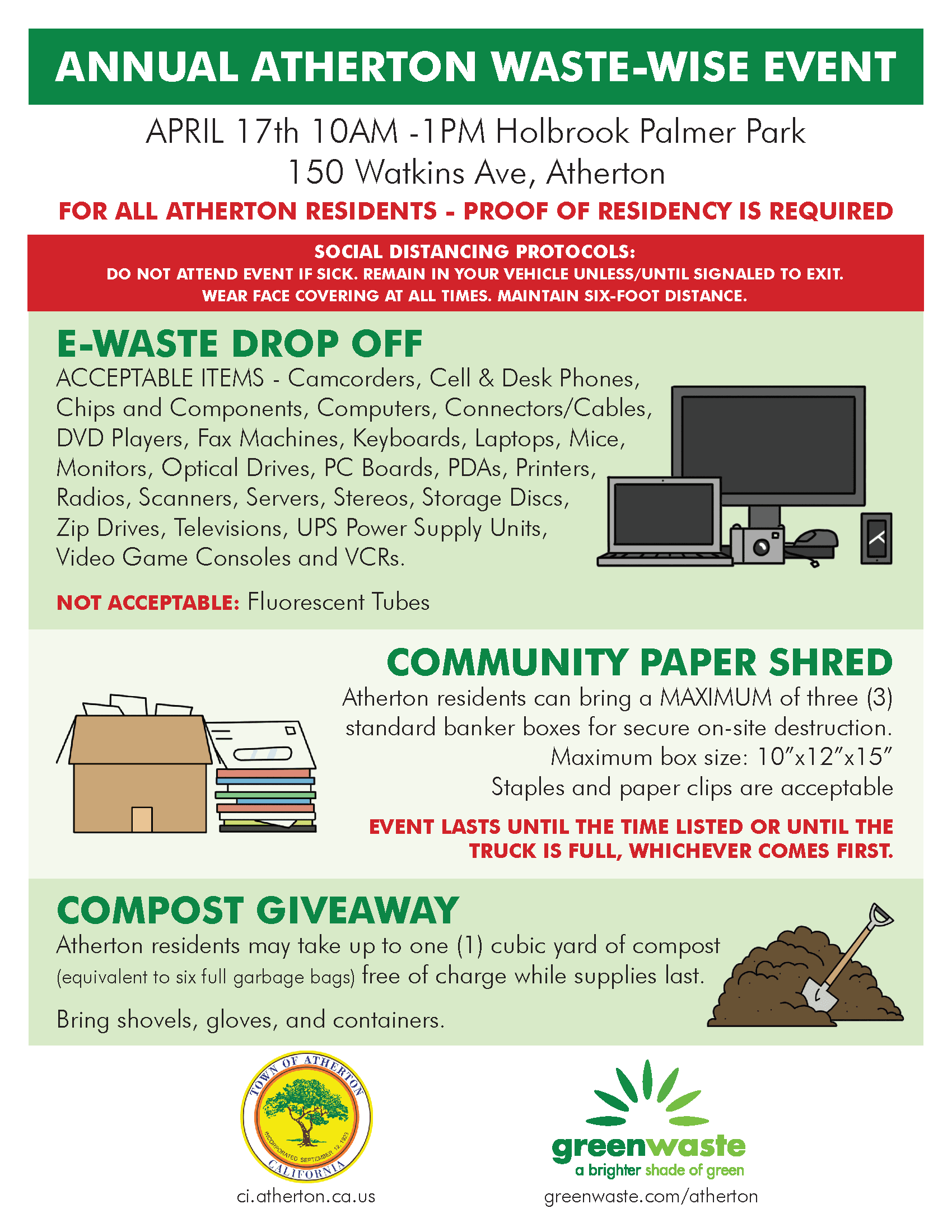 April 17 2021 E Waste - Paper Shred - Compost Flyer
