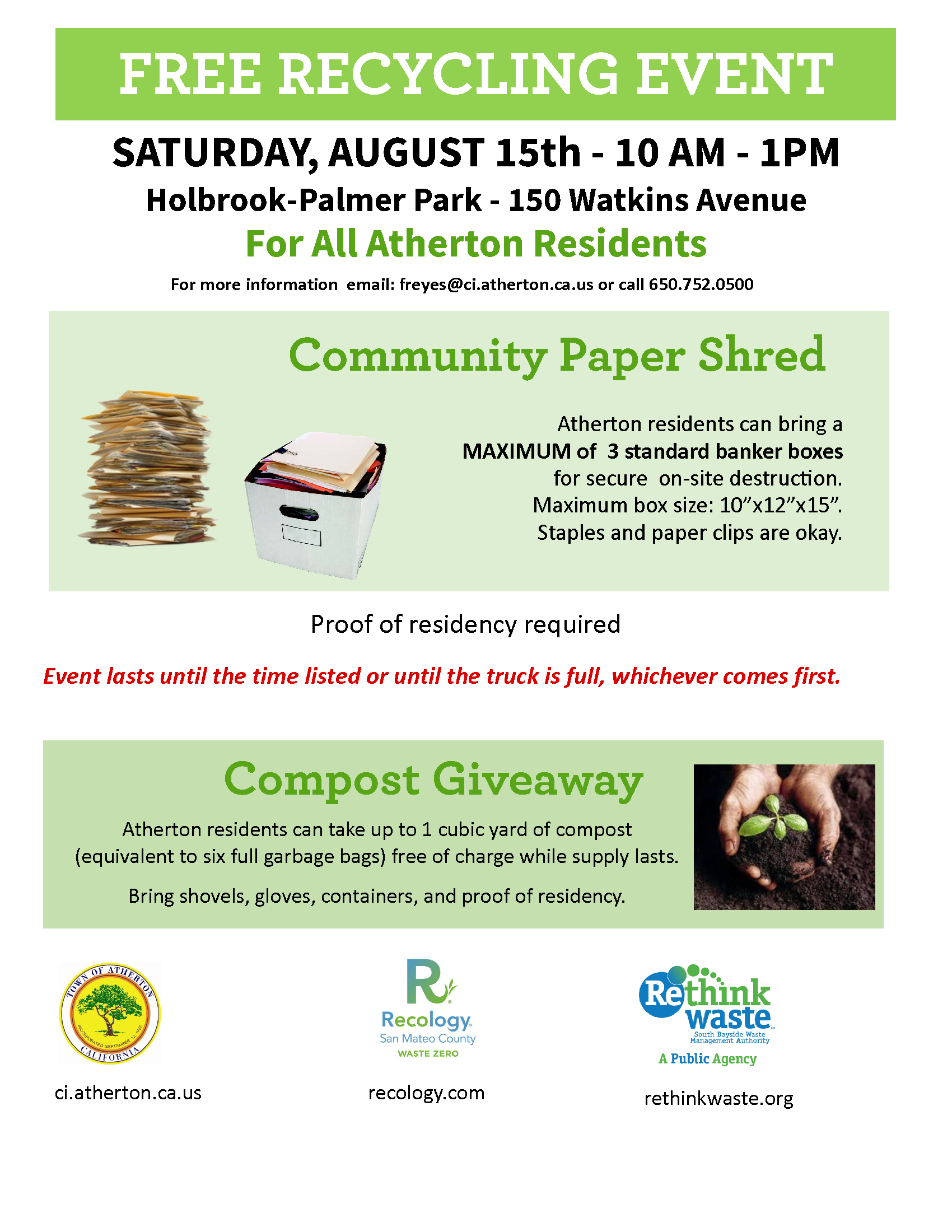 Atherton 2020 E-Waste Shred and Compost Poster_8.15rev1