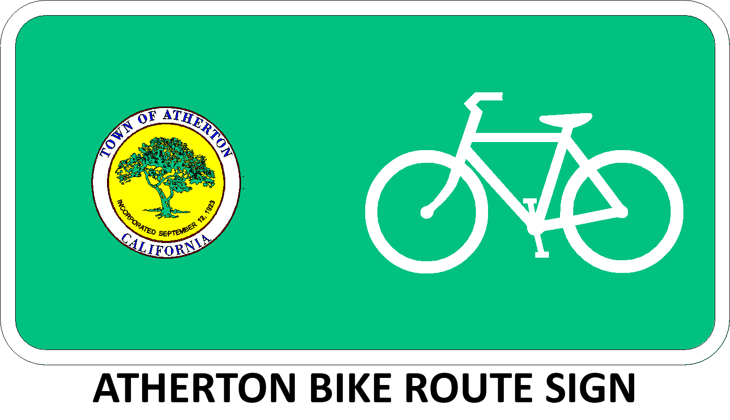 Atherton Bike Route Sign